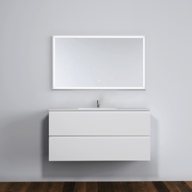 Malmö 120 cabinet with centred basin image
