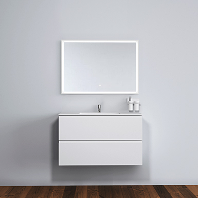 Malmö 100 cabinet with centred basin image