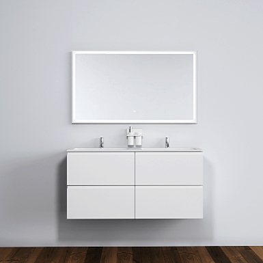 Malmö 120 cabinet with double basin image