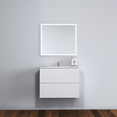 Malmö 80 cabinet with centred basin image