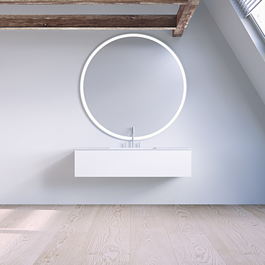 SQ2 120 cabinet with centred basin image