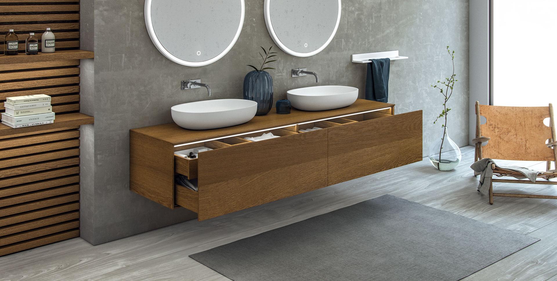 Rask Badeværelsesmøbler i moderne stil i massiv komposit - Copenhagen Bath OT-01
